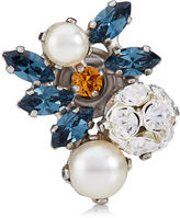 Jimmy Choo SUMMER Denim Mix Metal with Crystals and Pearls Shoe Buttons