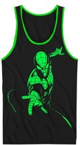 Spiderman Boys' Tank Top - Black/Neon Green
