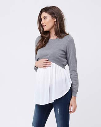 Ripe Maternity Babydoll Nursing Sweater