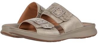 Clarks Un Adorn Slide (Black Nubuck/Leather Combi) Women's Shoes