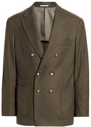 Brunello Cucinelli Wool Double-Breasted Jacket