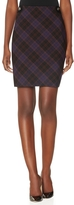 The Limited Button Tabbed Plaid Pencil Skirt