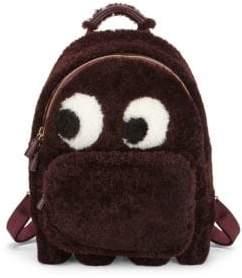 Anya Hindmarch Mini Ghost Faux Fur Backpack