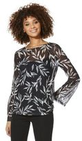 F&F Floral Mesh Overlayer Top, Women's