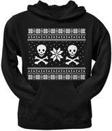 Old Glory Skull & Crossbones Ugly Christmas Sweater Pullover Hoodie