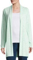 Eileen Fisher Linen-Cotton Long Cardigan, Aurora