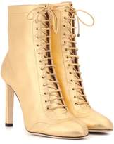 Jimmy Choo Daize 100 metallic leather ankle boots