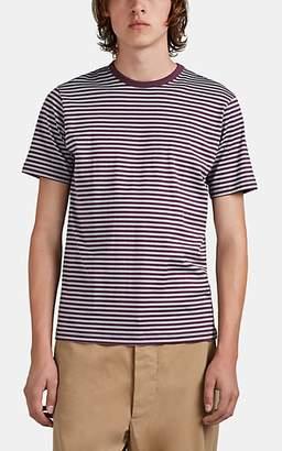 Sunspel Men's Striped Cotton T-Shirt - Wine