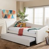 Baxton Studio Vera Faux=Leather Upholstered Curved Twin Daybed & Trundle