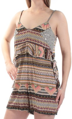 GUESS Women's Sleeveless Keira Scarf Print Romper