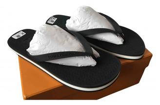 Louis Vuitton Molitor Black Rubber Sandals