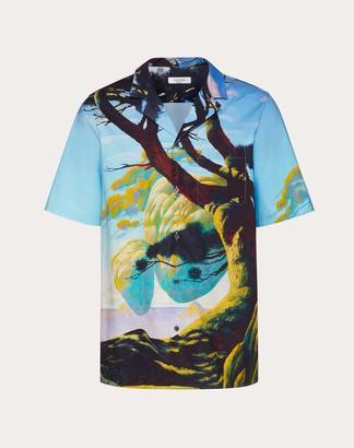 Valentino Floating Island Short-sleeved Shirt Man Multicolored Cotton 100% 44