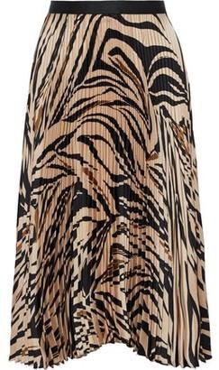 Bailey 44 Logan Pleated Printed Satin-twill Skirt