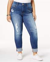 Melissa McCarthy Trendy Plus Size Ripped Cuffed Jeans