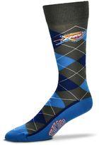 For Bare Feet Men's Oklahoma City Thunder Argyle Dress Socks