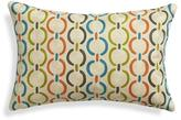"Crate & Barrel Parra 18""x12"" Pillow with Down-Alternative Insert"