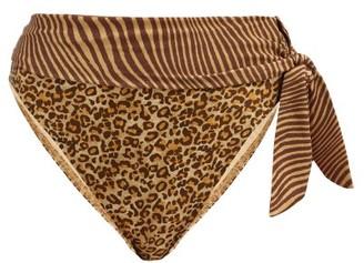 Zimmermann Empire Sash-waist Leopard-print Bikini Briefs - Leopard
