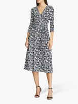 Ralph Lauren Ralph Carlyna Floral Print Wrap Dress, Lighthouse Navy/Colonial Cream