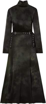 Marques Almeida Marques' Almeida Belted Washed-silk Midi Dress