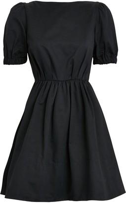 STAUD Alix Puff Sleeve Mini Dress