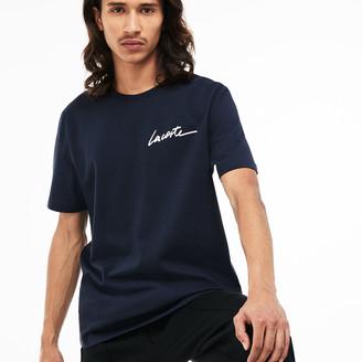 Lacoste Men's LIVE Crew Neck Signature Jersey T-shirt