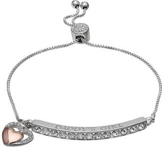 "Brilliance+ Brilliance ""Daddy's Girl"" Bar Bracelet with Swarovski Crystals"