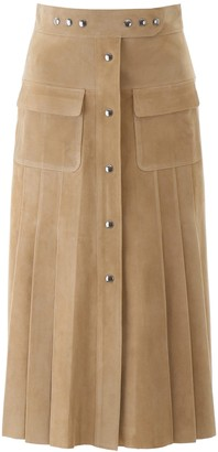 Prada A-Line Pleated Skirt
