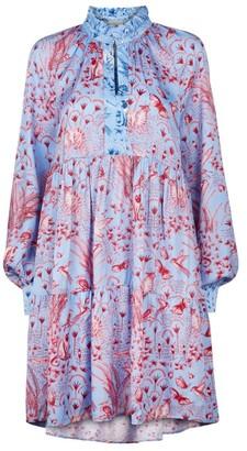 Stine Goya Jasmine Satin Smock Dress