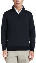 Loro Piana Roadster Half-Zip Cashmere Sweater, Navy