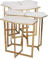 Regina-Andrew Design Regina Andrew Design Gold Leaf Puzzle Table