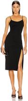 Cushnie Sleeveless Crystal Chain Pencil Dress in Black | FWRD