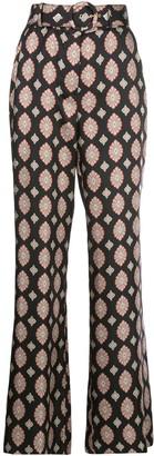 Nicholas Casablanca tile print wide-leg trousers