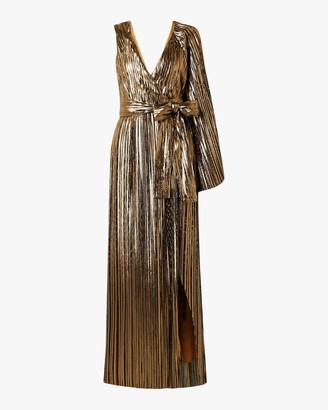 Semsem One-Sleeve Wrap Gown