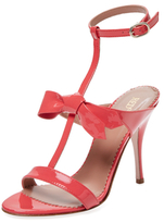 RED Valentino Patent Leather T-Strap Sandal
