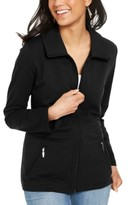 Karen Scott Wing Collar Zip-Front Jacket, Created For Macy's