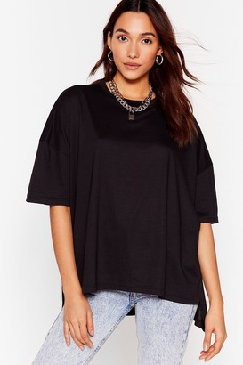 Nasty Gal Womens Comfort Is the Mission Oversized Tee - Black - 4