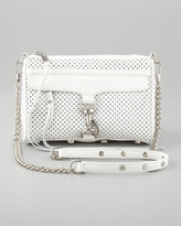 M.A.C. Perforated Clutch Crossbody Bag, White