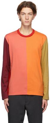 Comme des Garçons Homme Deux Multicolor Colorblocked Long Sleeve T-Shirt