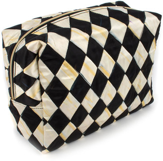 Mackenzie Childs Harlequin Large Cosmetic Bag