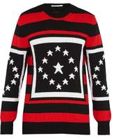 Givenchy Star-intarsia Striped Wool Sweater