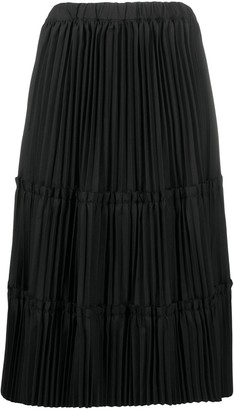 Comme des Garcons High-Waist Pleated Midi Skirt