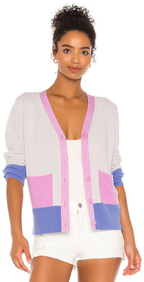 525 America Yarn & Color Blocked Cardigan