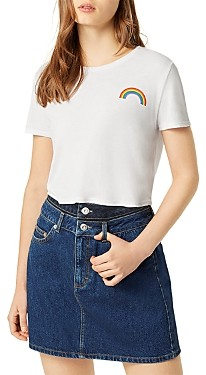 French Connection Pride Rainbow Cotton Tee