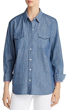 Tommy Bahama Have You Scenic Embroidered Chambray Shirt