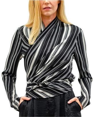 Kindom Livia Long Sleeve 4-Way Convertible Stripe Top