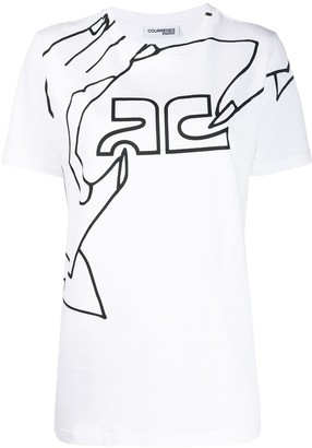 Courreges graphic-print T-shirt
