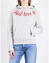 Sandro Embroidered cotton-jersey hoody