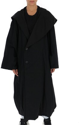 Yohji Yamamoto Hooded Buttoned Coat