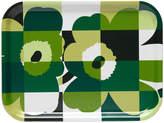 Marimekko Ruutu-Unikko Tray - Green/White