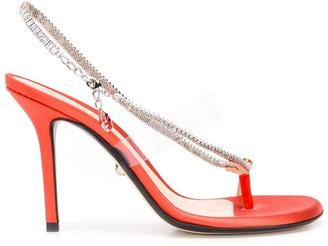 ALEVÌ Milano Muriel satin sandals